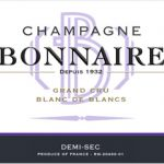 Label Champagne Bonnaire Blanc de Blancs Demi-Sec Grand Cru